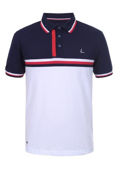 Lutha Hr. Polo Shirt Fredi 333597 weiß-navy