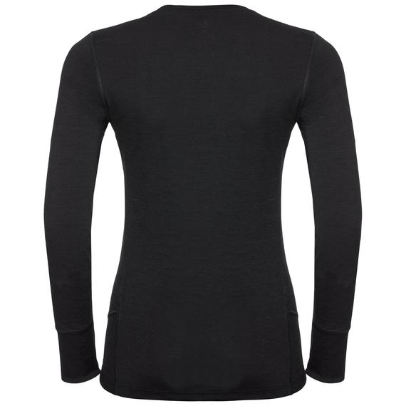 Odlo Damen NATURAL 100% MERINO WARM Funktionsunterwäsche Langarm-Shirt 110811 schwarz