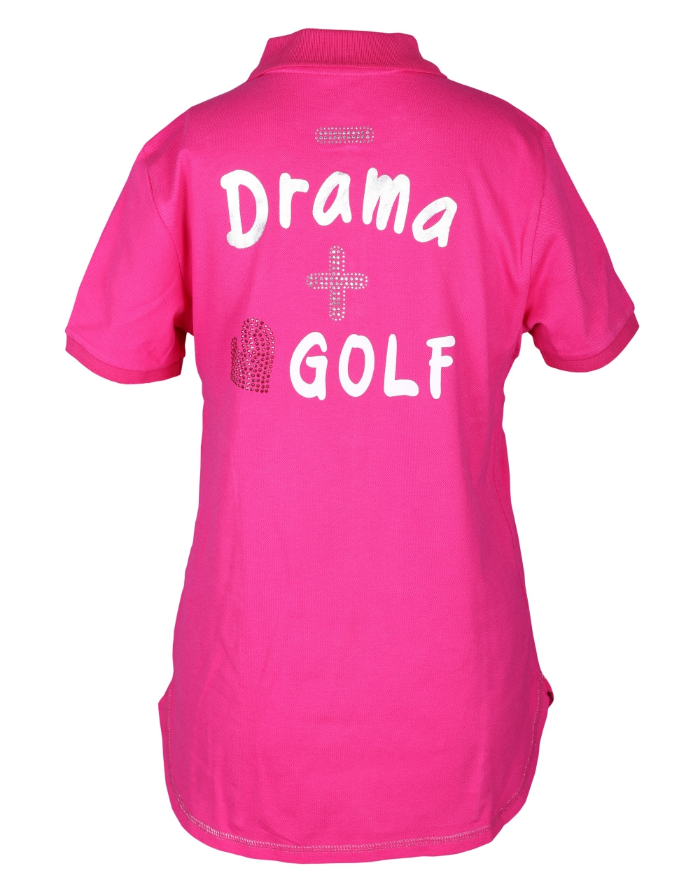 girls golf Damen Polo 1/2 sleeveless less drama more golf 14147 pink