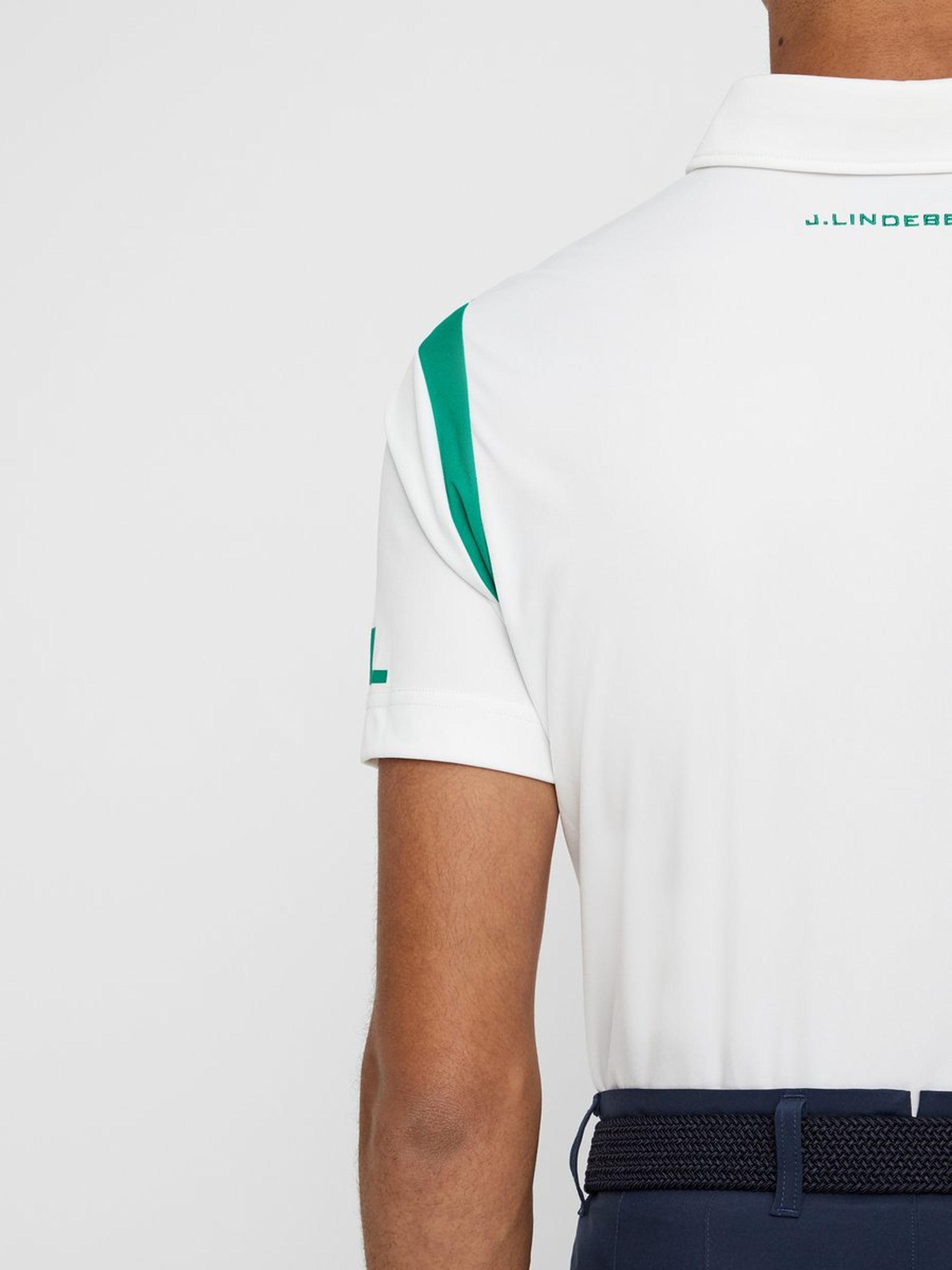 J. Lindeberg Hr. Dolph Reg Fit TX Jersey Poloshirt weiß