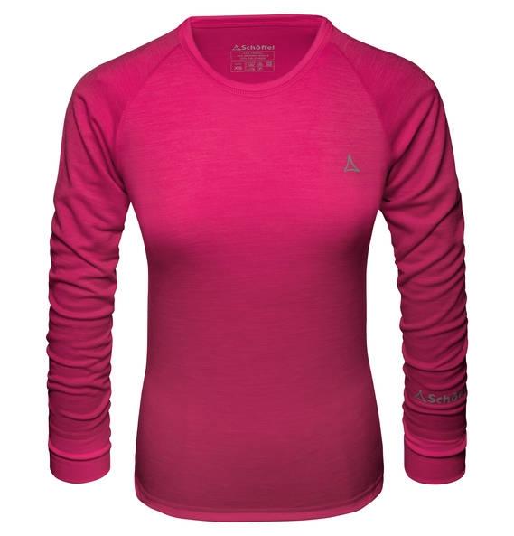 Schöffel Merino Sport Shirt Damen Langarm pink