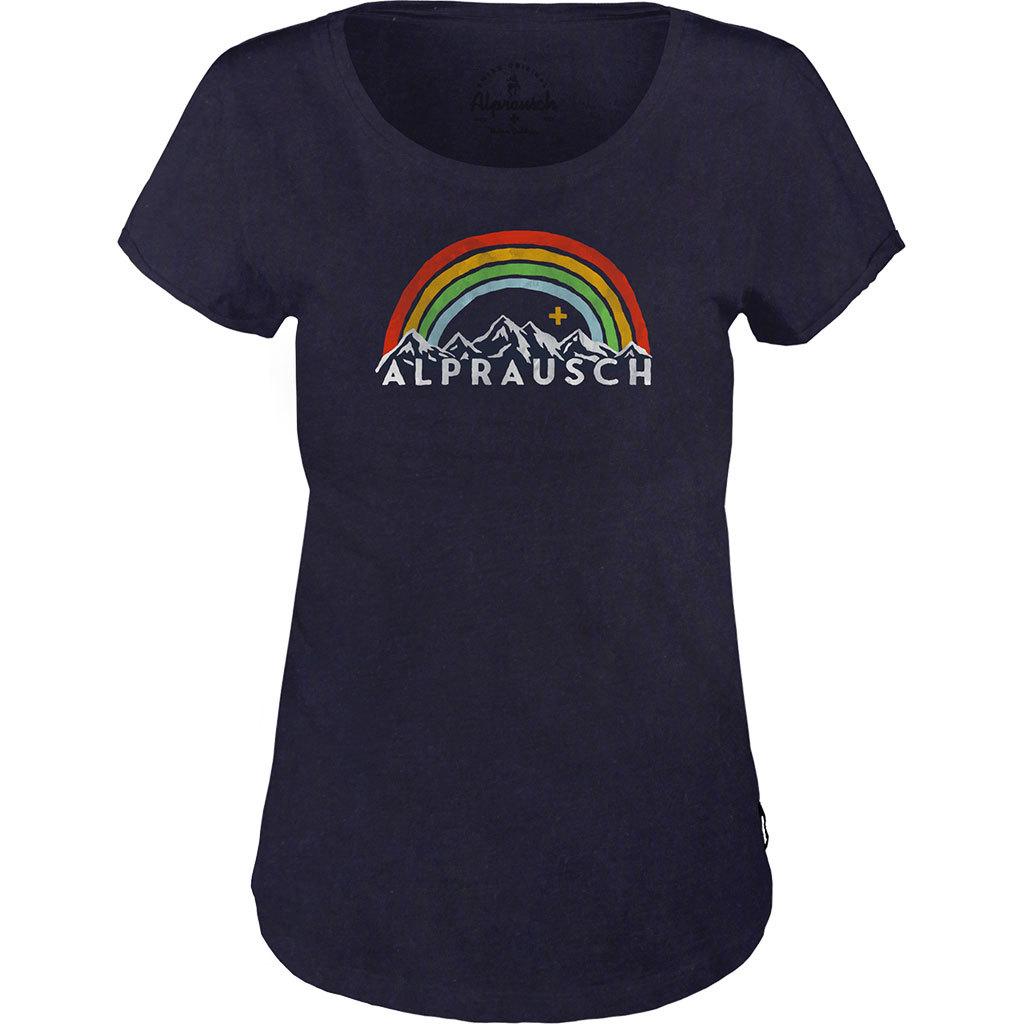 Alprausch Damen Stolzi Alpe T-Shirt dunkelblau