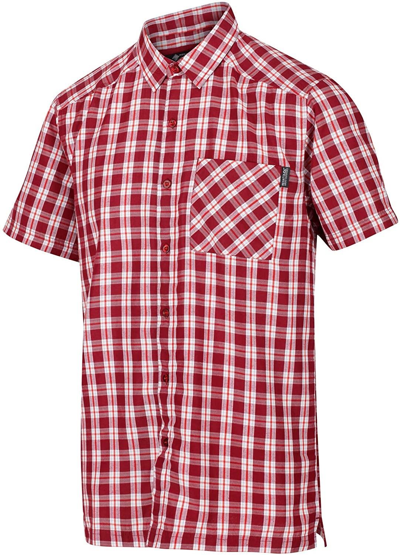 Regatta Herren MINDONA V Kurzarmhemd RMS141 delhi red