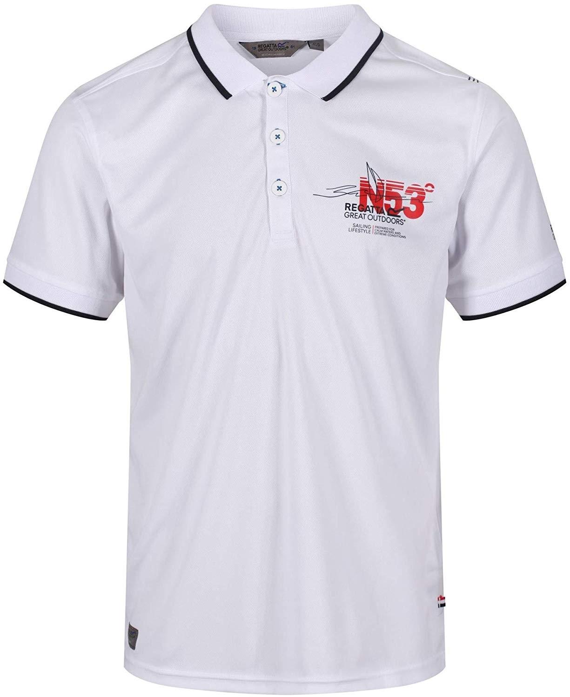 Regatta Hr. Polo Shirt RMT157 Tremont III weiß