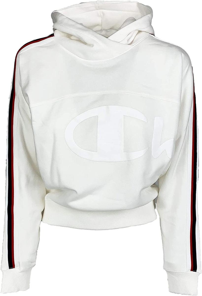 Champion Damen Hooded Sweatshirt 113325 weiß