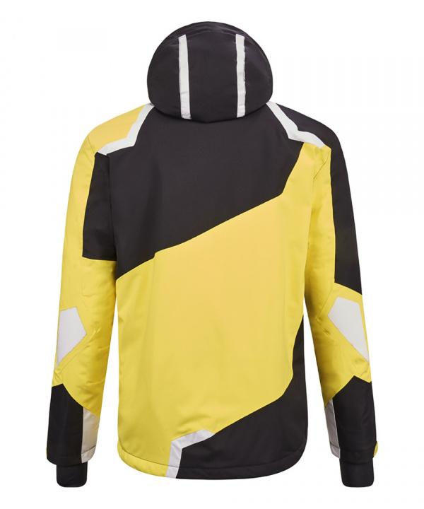 Killtec Herren Savognin Skijacke + Funktionsjacke mit abzippbarer Kapuze und Schneefang 36118 gelb