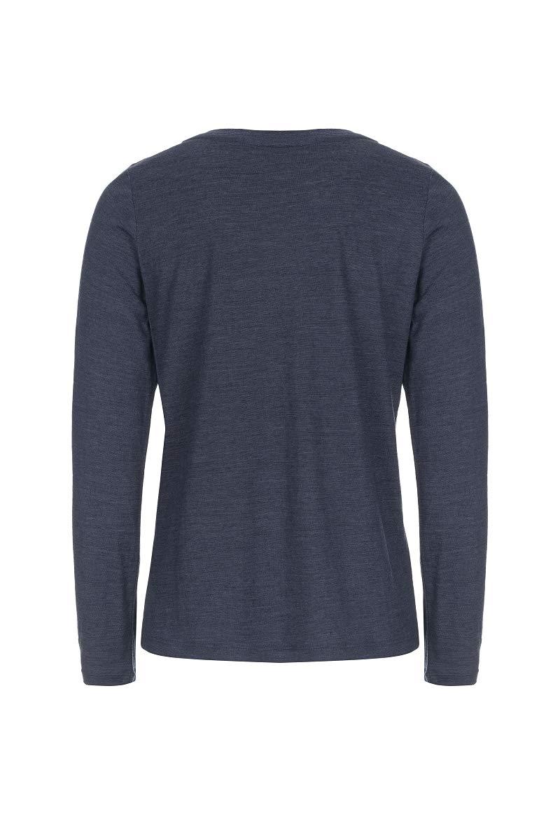 super.natuarl Da. Essential Scoop Langarm Shirt SNW011280 dunkelblau
