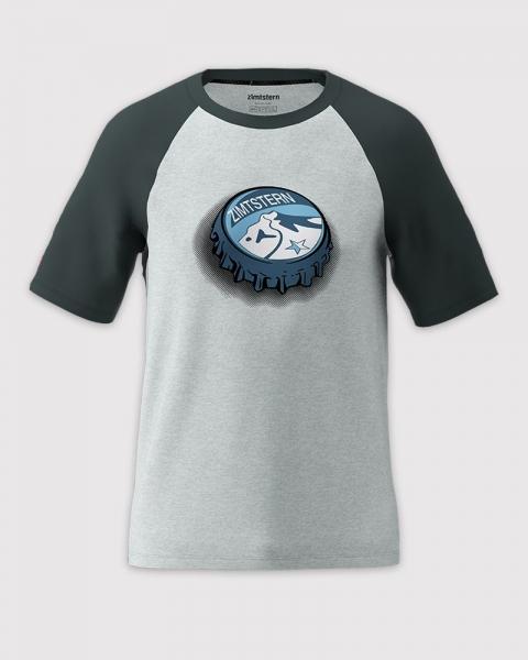 Zimtstern Herren Cupz Tee Men's T-Shirt M20015 grau