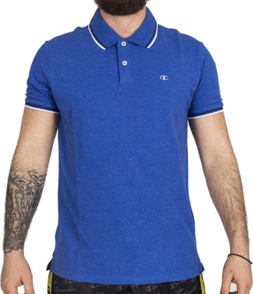 Champion Hr. Polo Shirt Auth 211847 blau