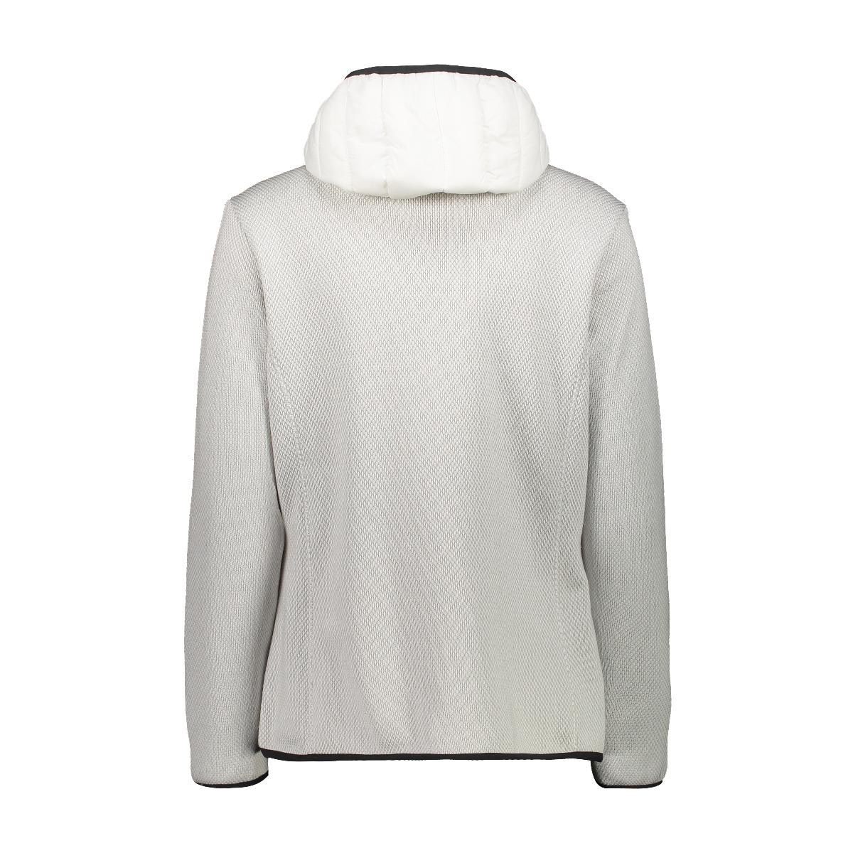 CMP Damen Hybrid Jacke Fix Hood 30H1616 weiß