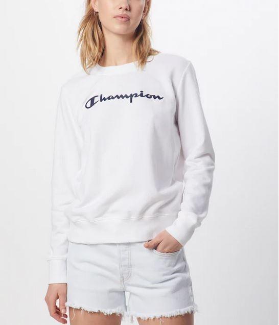 Champion Damen Crewneck Sweatshirt 112585 weiß
