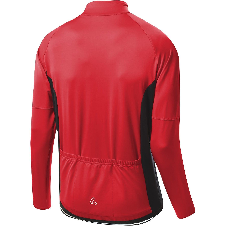 Löffler Herren Bike Langarmtrikot CF Smart 22995 schwarz-rot