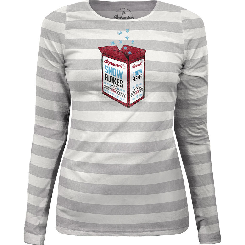 Alprausch Damen Snow Flakes Long Sleeve Shirt grau