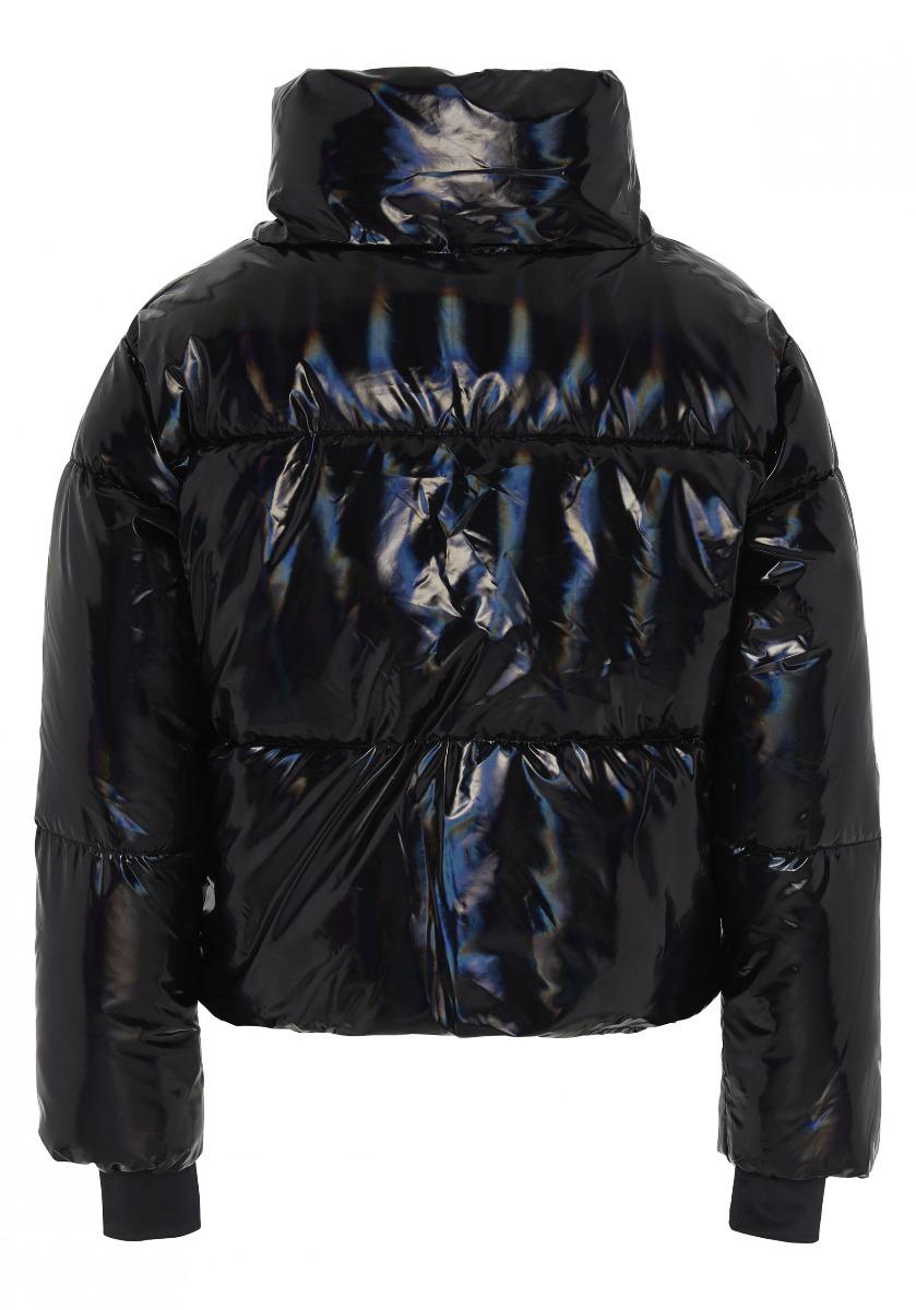 Chiemsee Damen Wattierte Jacke Diran Metalic Look 12203304 schwarz