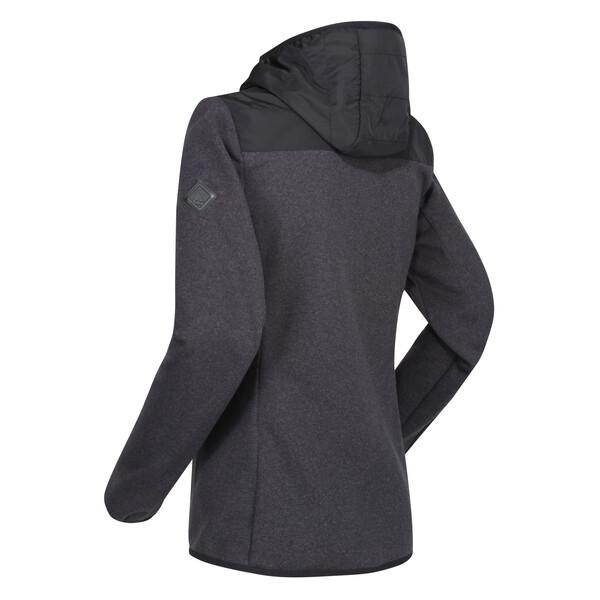 Regatta Damen Upham Hooded Hybrid Softshell Jacke RWL199 schwarz