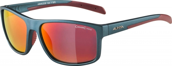 Alpina Erwachsene NACAN I Sportbrille matt cherry-red