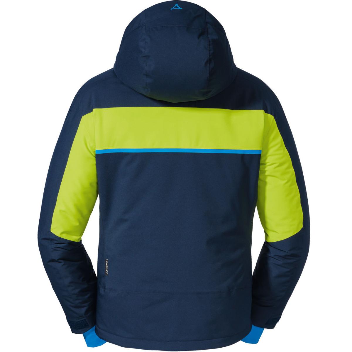 Schöffel Herren Skijacket GOLDEGG 22974 dunkleblau-gelb