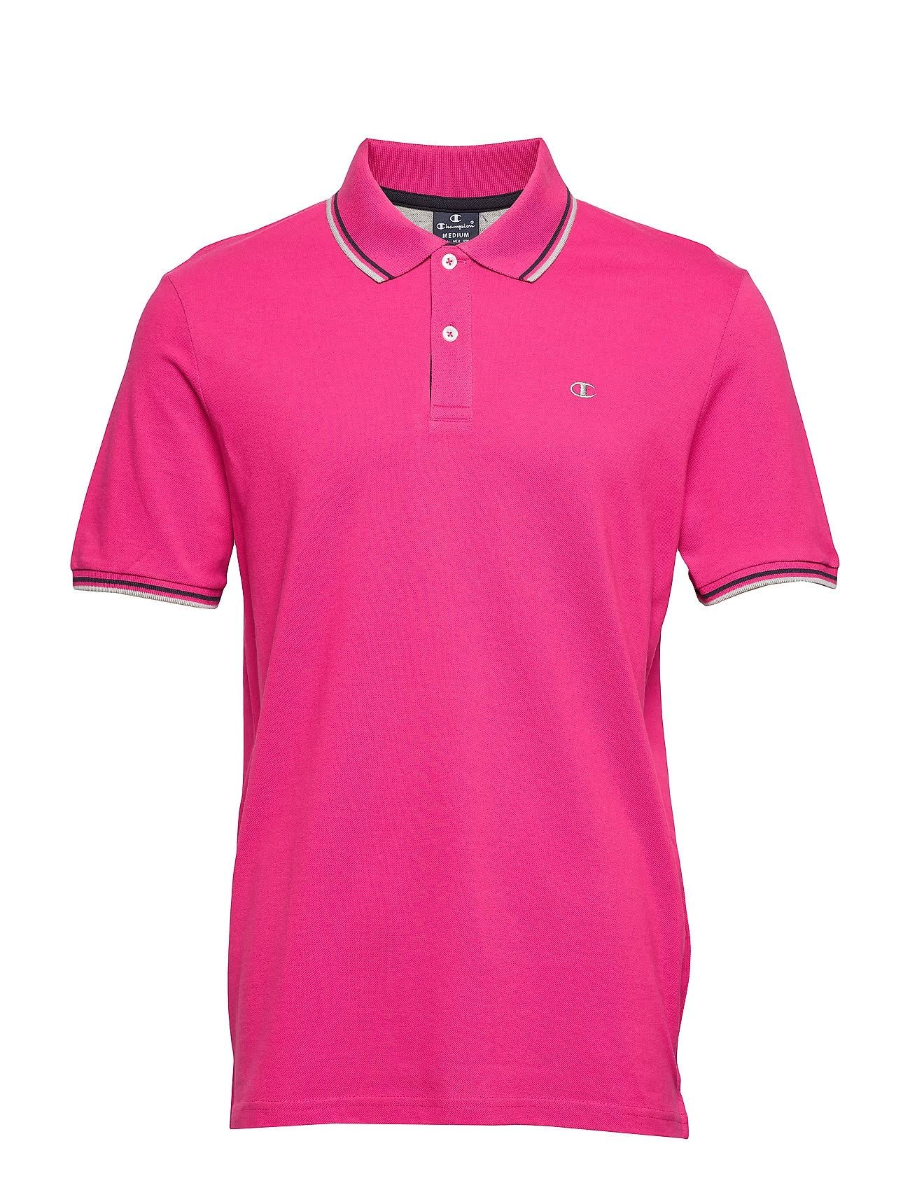 Champion Hr. Polo Shirt Auth 211847 pink