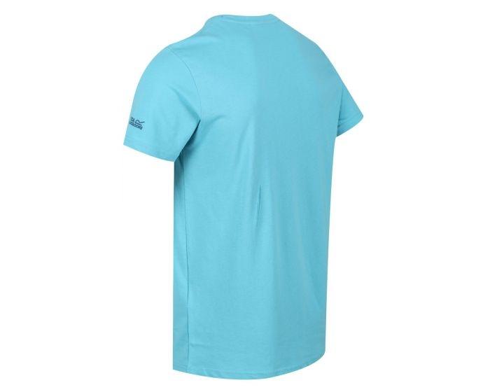 Regatta Herren Cline IV Graphic T-Shirt RMT206 Maui Blue
