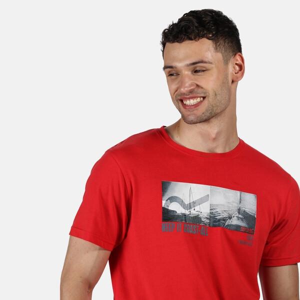 Regatta Herren Cline IV Graphic T-Shirt RMT206 True Red