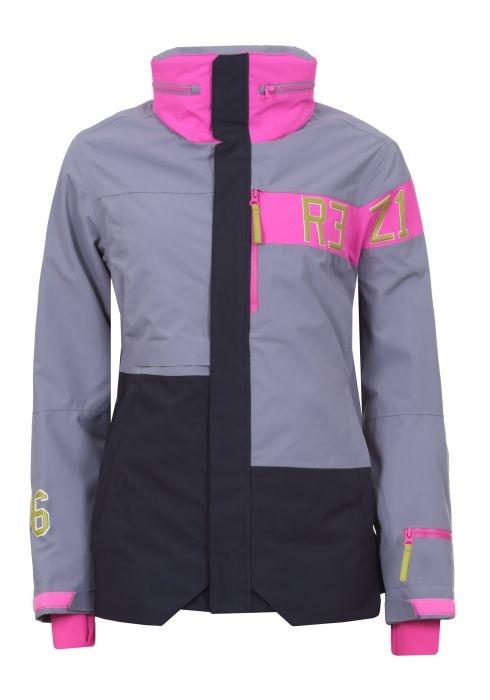 Icepeak Damen Skijacke Clearwater 453100 grau-pink