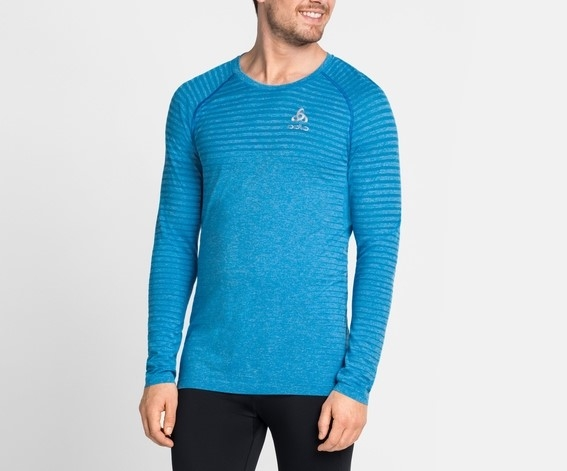 Odlo Herren SEAMLESS ELEMENT Langarm-Shirt 312632 blau