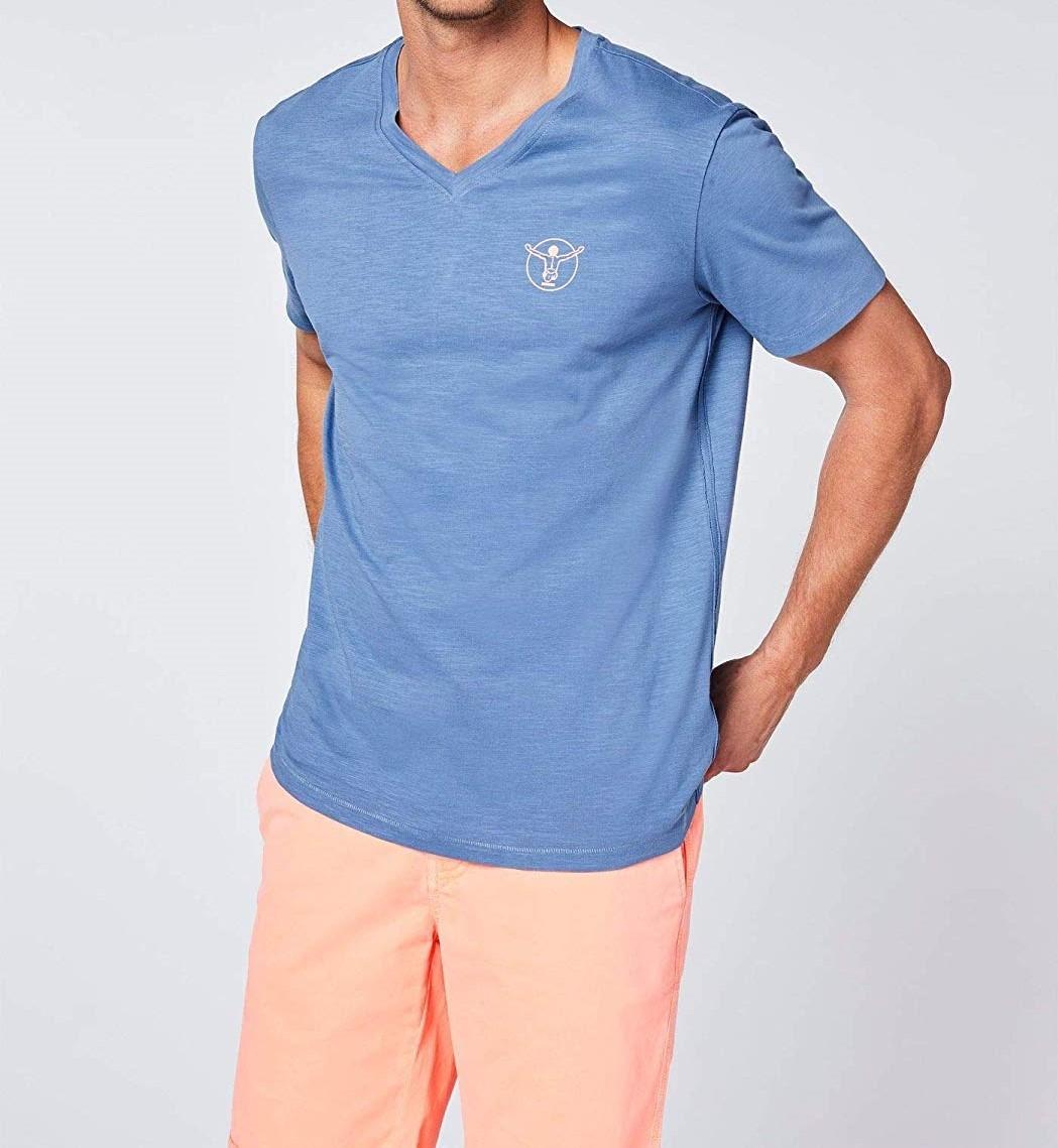 Chiemsee Hr. T-Shirt mit V-Ausschnitt 2071004 blau