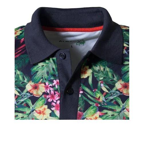 ALBERTO Golf Herren Poloshirt Dry Comfort NICO blumen print