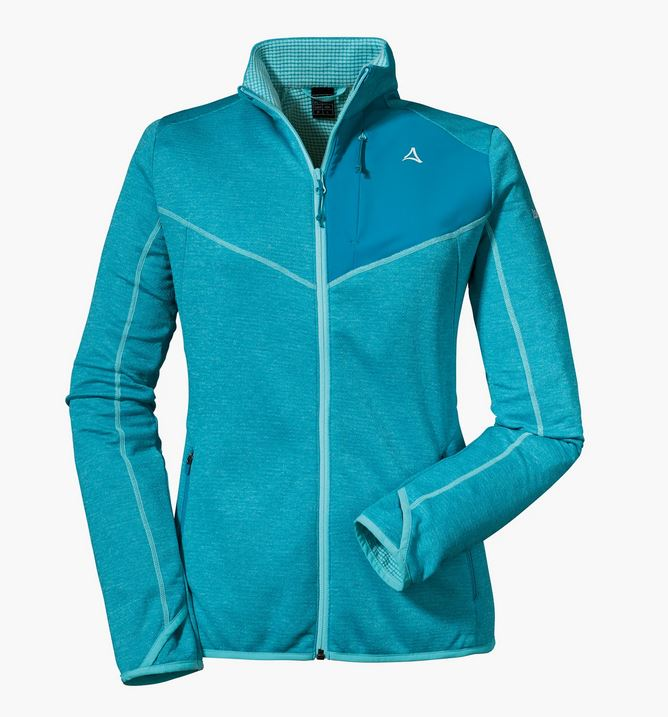 Schöffel Damen Fleece Jacket Houston1 12429 hellblau