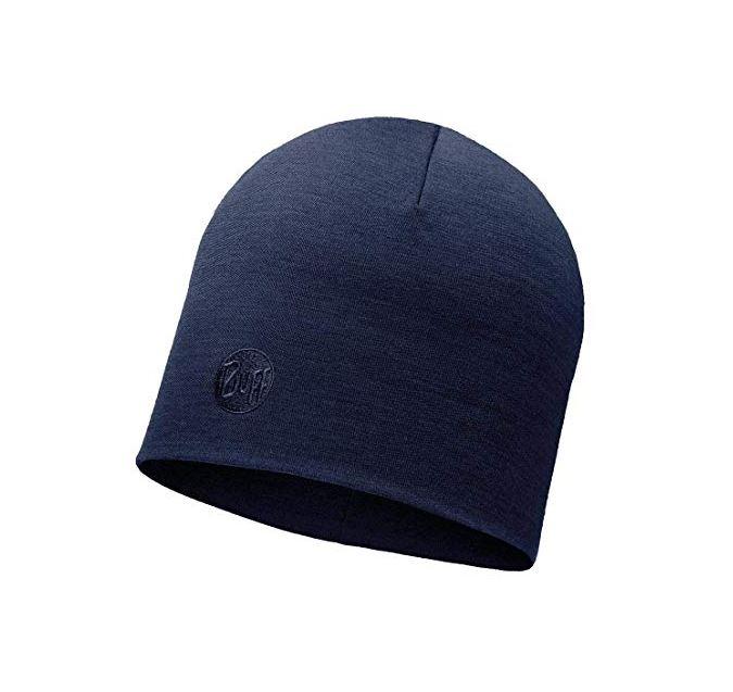 Buff® Mütze Heavyweight Merino Wool solid 113028 denim