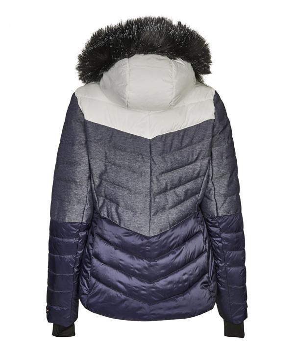 Killtec Damen Brinley Jacke in Daunenoptik mit abzippbarer Kapuze und Schneefang 32594 denim