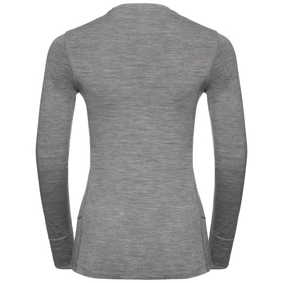 Odlo Damen NATURAL 100% MERINO WARM Funktionsunterwäsche Langarm-Shirt 110811 grau